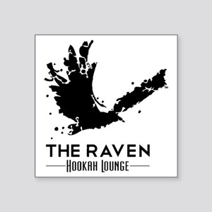 "The Raven Hookah Lounge - B Square Sticker 3"" x 3"""