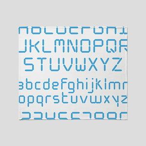 Digital Font Throw Blanket