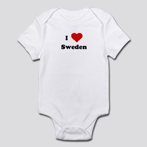 I Love Sweden Infant Bodysuit