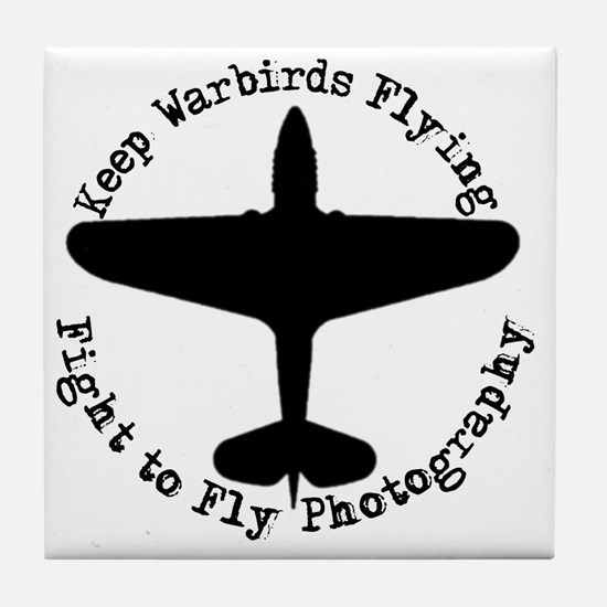 Nwe Fight to Fly Logo Tile Coaster