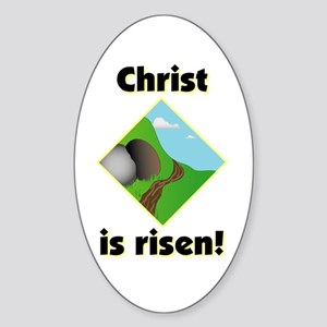 Christ is Risen Oval Sticker