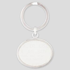 Exercise White Oval Keychain