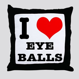 I Heart (Love) Eyeballs Throw Pillow