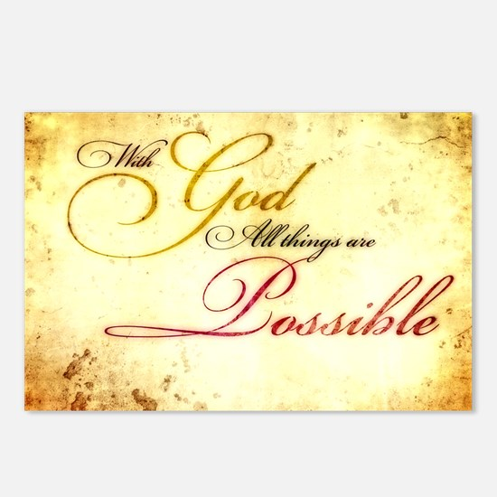 with god gold vintage Postcards (Package of 8)