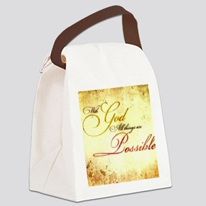 with god gold vintage Canvas Lunch Bag