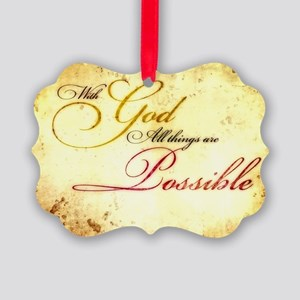 with god gold vintage Picture Ornament