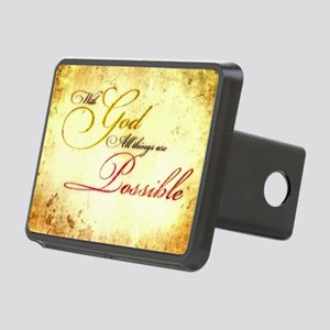 with god gold vintage Rectangular Hitch Cover