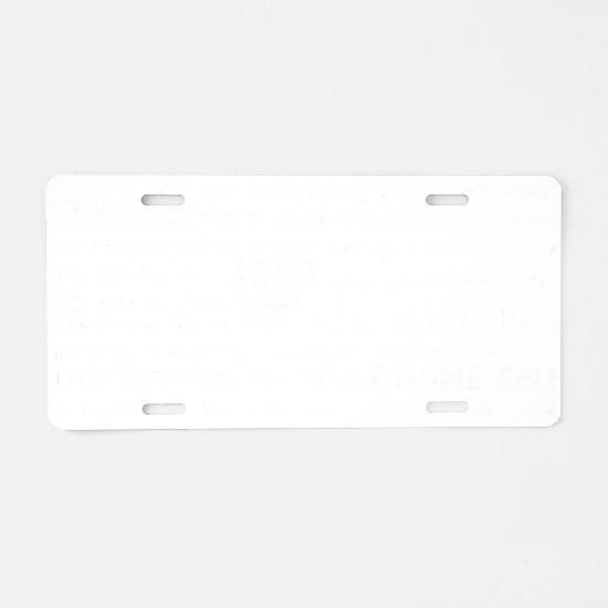 Goddess Charge 2 (white) Aluminum License Plate
