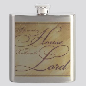 As for me and my house Vintage Flask