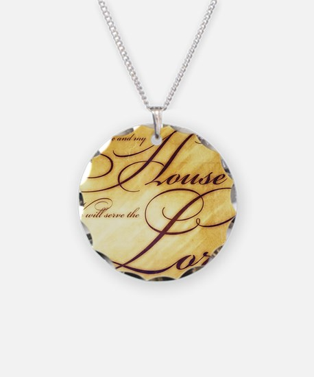 As for me and my house Vinta Necklace