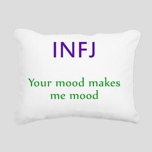 INFJ Moods Rectangular Canvas Pillow
