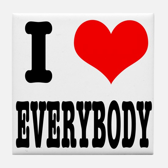 I Heart (Love) Everybody Tile Coaster