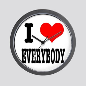 I Heart (Love) Everybody Wall Clock