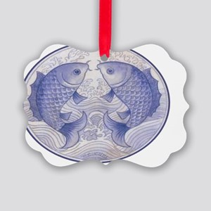 Asian Icthus Large 1 Picture Ornament