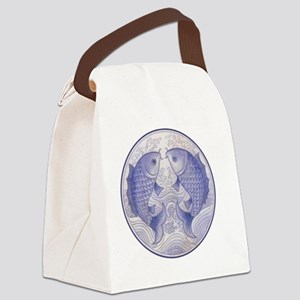 Asian Icthus Queen Sized Canvas Lunch Bag