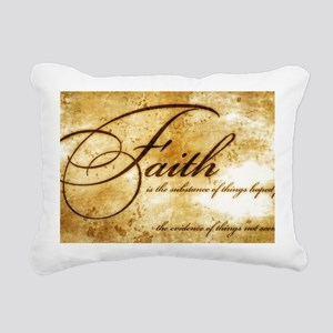 faith is gold vintage Rectangular Canvas Pillow