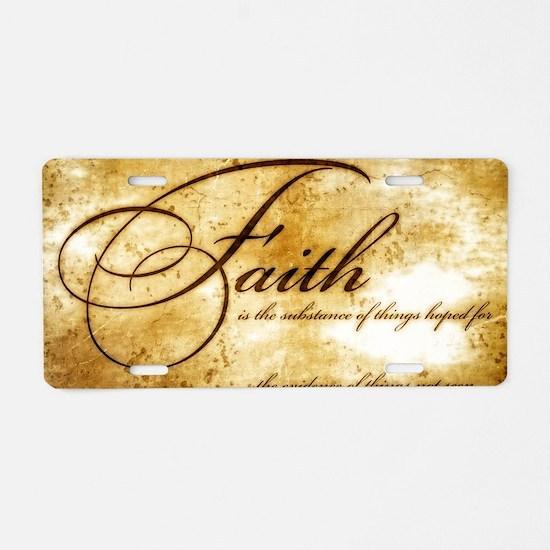 faith is gold vintage Aluminum License Plate