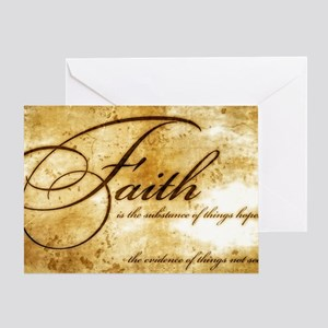 faith is gold vintage Greeting Card