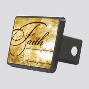 faith is gold vintage Rectangular Hitch Cover