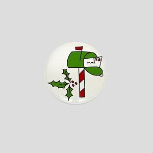 Christmas Mailbox Mini Button