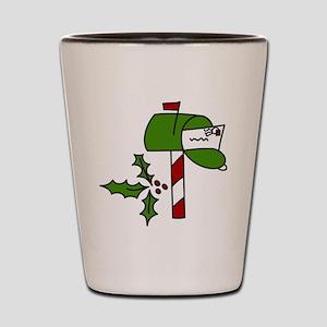 Christmas Mailbox Shot Glass