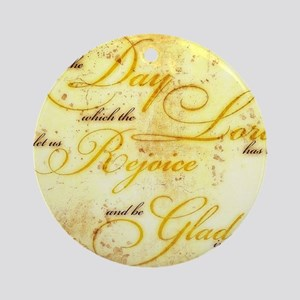 This is the Day vintage Round Ornament