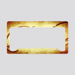 Believe vintage print License Plate Holder