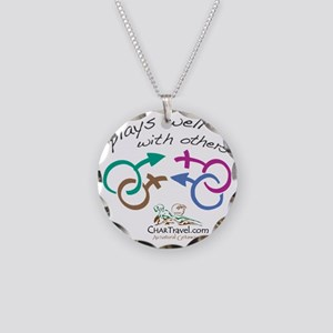 Plays Well with Others 10x10 Necklace Circle Charm