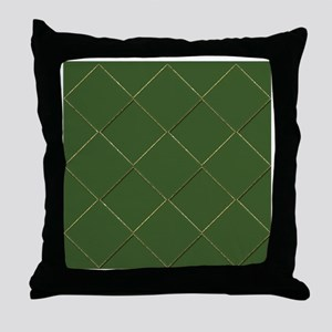 Funky Stripes purple green gold Throw Pillow