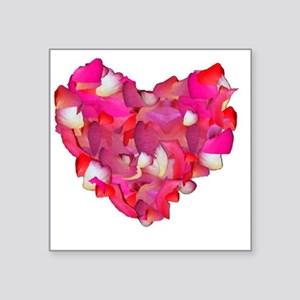 """Heart of Flowers Square Sticker 3"""" x 3"""""""