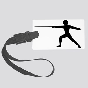 Guy Fencer Large Luggage Tag