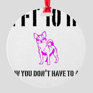 Funny Short Round Ornament