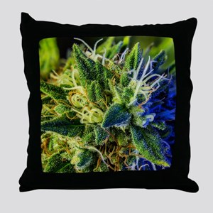 glistening trichomes Throw Pillow