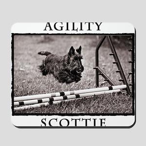 Jump - Agility Scottie Dog Mousepad