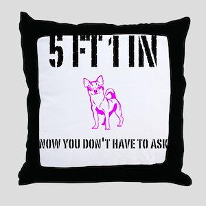 Short Girl Funny Throw Pillow