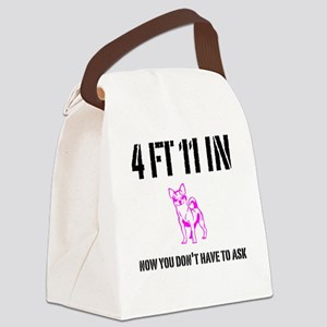 Funny Short Canvas Lunch Bag