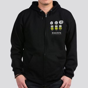 Realist and the two idiots Zip Hoodie (dark)