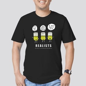 Realist and the two id Men's Fitted T-Shirt (dark)