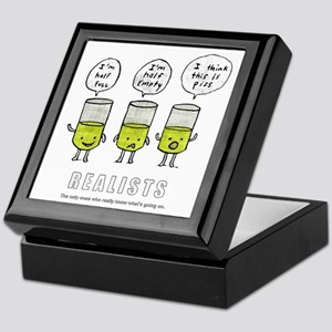 Realist and the two idiots Keepsake Box
