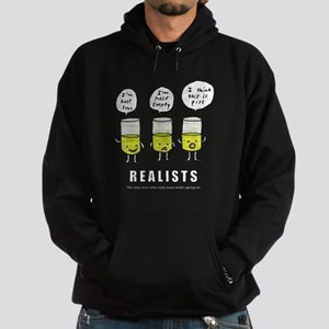 Realist and the two idiots Hoodie (dark)