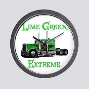 Lime Green Extreme Wall Clock