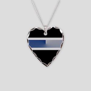 Team Colors 4...Blue Necklace Heart Charm