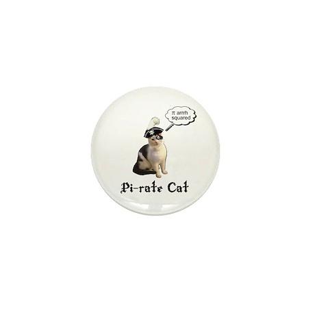 Pi-rate Cat Mini Button (10 pack)
