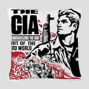 The CIA Woven Throw Pillow