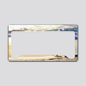 On the beach you can live in  License Plate Holder