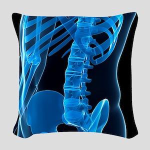 Lower spine, artwork Woven Throw Pillow