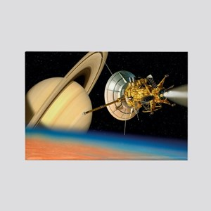 Computer artwork of Cassini space Rectangle Magnet