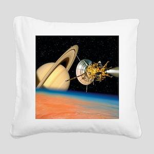 Computer artwork of Cassini s Square Canvas Pillow