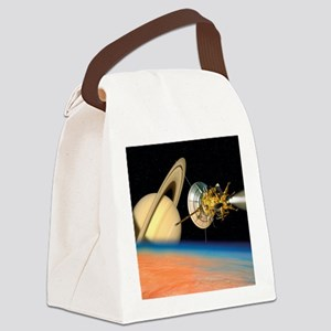 Computer artwork of Cassini space Canvas Lunch Bag