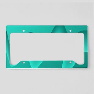 Teal Wave Image. License Plate Holder